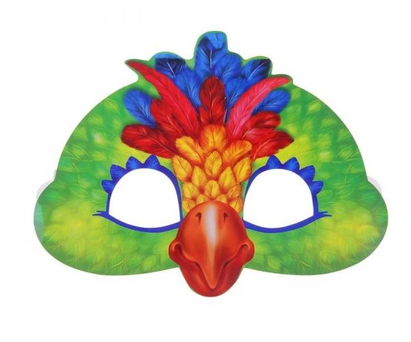 Сделать маску попугая из бумаги своими руками